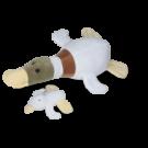 Pato selvagem com 1 filhote - Animais de Pelúcia Grávidos - CAS brinquedos - Bichos de pano
