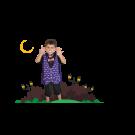 Pijama Vampiro - 6 anos - Lé com Cré