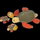 Tartaruga com 2 ovos com filhotes - Animais de Pelúcia Grávidos - Bichos de pano