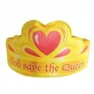"""Coroa de tecido com estampa digital """"God save the queen""""- Frappé / Nhooc"""