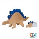 Estegossaura grávida com filhote - Dinossauro de Pelúcia - CAS - Bichos de pano