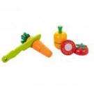 Kit Pimentao, Cenoura e Tomate com corte - Coleção Comidinhas - New Art Toys