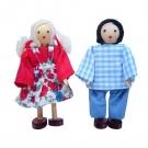 Bonecos 2 crianças de madeira - BOHNEY