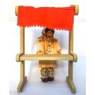 Mini Feira com Vendedora - Brinquedo de madeira - Bohney